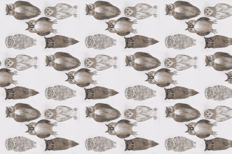 Wisdom of Owls _2-ch fabric by dizzybeedesigns on Spoonflower - custom fabric
