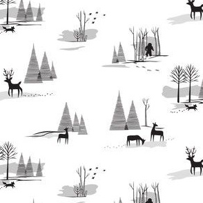 Yeti Toile Small Scale Black & White