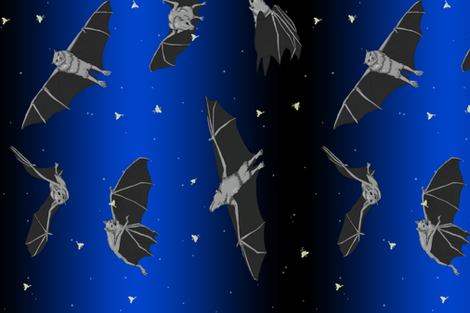 Batty For Bats (& Moths) fabric by mcat711 on Spoonflower - custom fabric