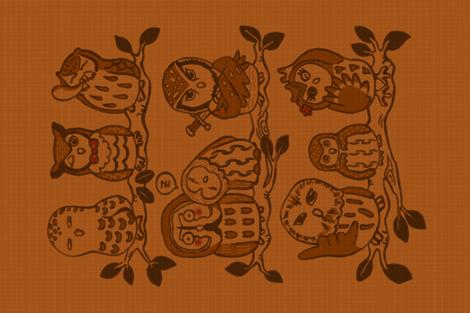Owls in Alaska fabric by ksharpstudio on Spoonflower - custom fabric