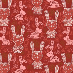 Coral Pink Lemon Bunny