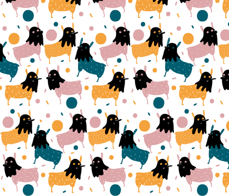 Iced Llama fabric by how-store on Spoonflower - custom fabric