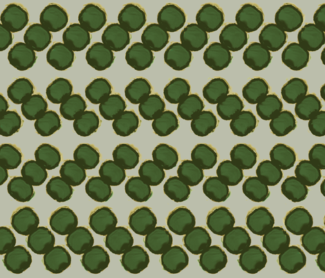 dots zigzag-green fabric by anneke_doorenbosch on Spoonflower - custom fabric