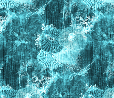 deep sea creatures fabric by mimipinto on Spoonflower - custom fabric