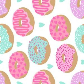 pastel donuts cute pink and mint donut design hearts micro tiny print