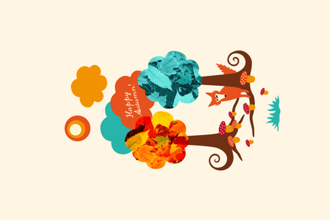 Fall Fox  fabric by pinkdeer on Spoonflower - custom fabric