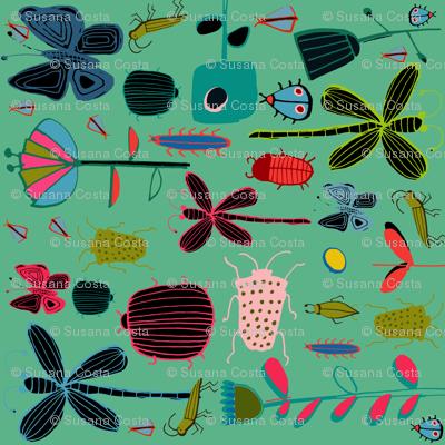 tea towel butterfly Teal
