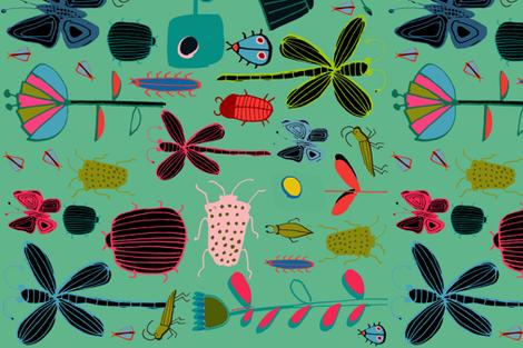 tea towel butterfly Teal fabric by bruxamagica on Spoonflower - custom fabric