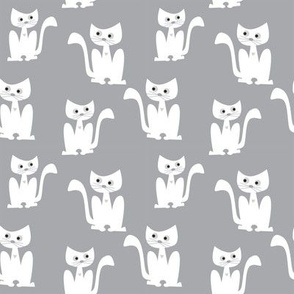 Cats on grey