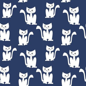 Cats on blue