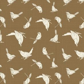 Garden Birds shadows brown ow