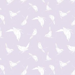 Garden Birds shadows lilac