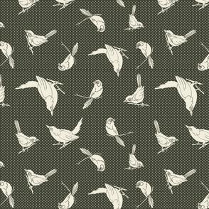 Garden Birds shadows sage ow
