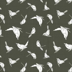 Garden Birds shadows sage
