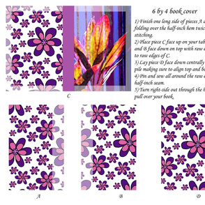 6 by 4 Fabric Bookcover Botanic