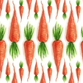 Carrots, Tea Towel Print, Orange and Green Summer Vegetable, Kitchen Garden, Toddler Leggings