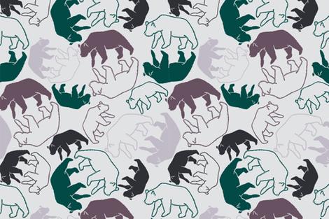 Crazy Bears fabric by eraerica on Spoonflower - custom fabric