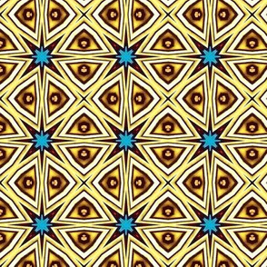 Gold and Blue Tile