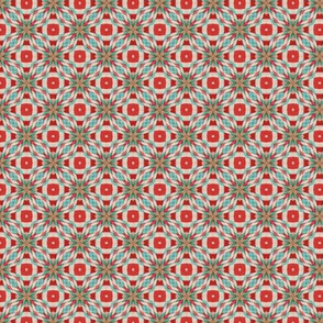 Red and turqoise tile