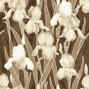 Sepia Irises