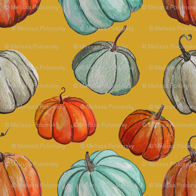 Autumn Pumpkin Patch // Mustard