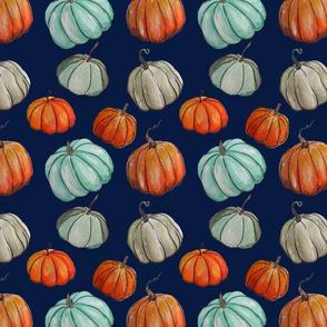 Autumn Pumpkin Patch // Navy