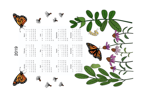 Butterfly Garden fabric by inkykindofday on Spoonflower - custom fabric