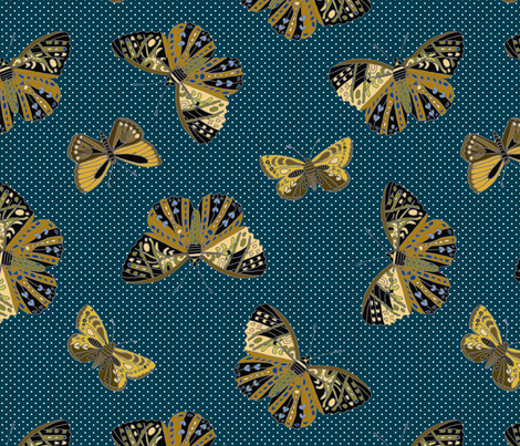 Butterflies are free Teal 092518 fabric by monarch_design_studio on Spoonflower - custom fabric