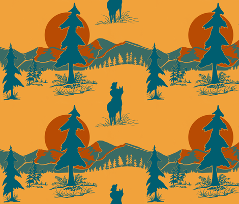 Day of the Cowboy is gone fabric by salzanos on Spoonflower - custom fabric