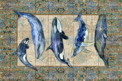 Tea Towel - Whales