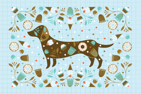 Treats and Nibbles fabric by a_tale_of_fox on Spoonflower - custom fabric
