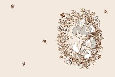 BirdFamily fabric by creativebrenda on Spoonflower - custom fabric