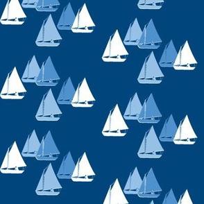 Herreshoff Sailboats Navy with blue