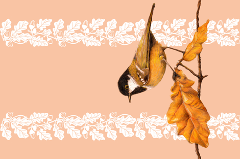 "Teatowel ""Autumn"" fabric by honey_gherkin on Spoonflower - custom fabric"