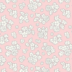 Forest flowers pale pink