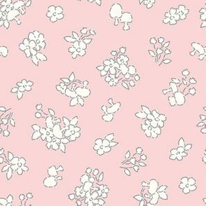 Forest floor pale pink