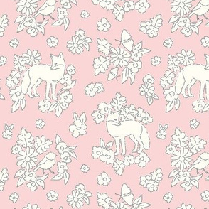 Foxes pale pink