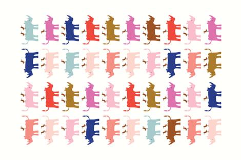 Rhino towel white_Solvejg Makaretz fabric by solvejg on Spoonflower - custom fabric