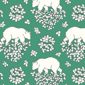 Bears and berries green
