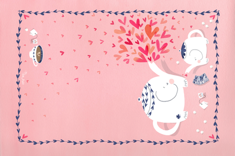 Elephant Love fabric by pattyryboltdesigns on Spoonflower - custom fabric
