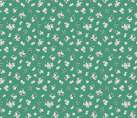 Forest floor green fabric by helena_nilsson on Spoonflower - custom fabric