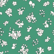 Mushroomsandflowers_green_helenanilsson_shop_thumb