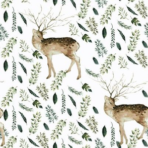 "8"" Farmhouse Deer Forest // Lilac White"