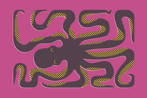 Octopus Box Mime Tea Towel fabric by katerhees on Spoonflower - custom fabric