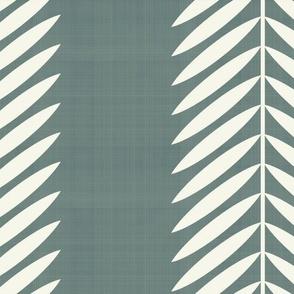 Laurel Leaf Stripe Cream on Deep Sage