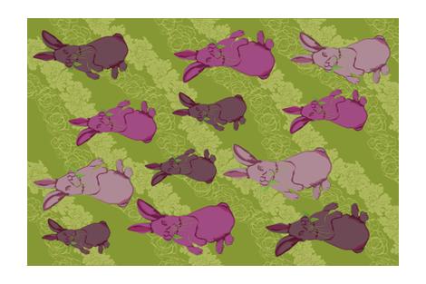 hungry bunnies fabric by amyjacobusdesign on Spoonflower - custom fabric