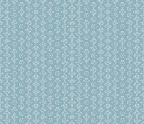 Rabbit Chevron White on Blue fabric by gingercreations on Spoonflower - custom fabric