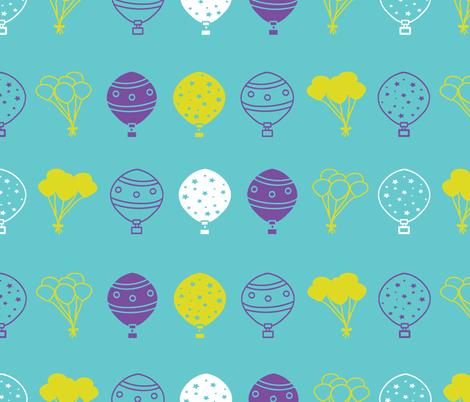 Carnival_blue_balloons_seaml_stock fabric by jaidurga on Spoonflower - custom fabric