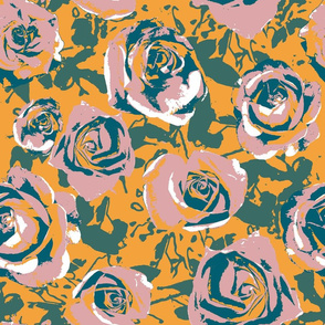 Fall Roses - large scale