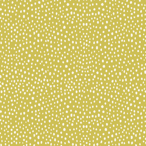 Ditzy Dot in Mustard fabric by michele_norris on Spoonflower - custom fabric